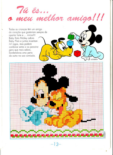 Disney Baby Topolino Pluto Magiedifilo It Punto Croce Uncinetto