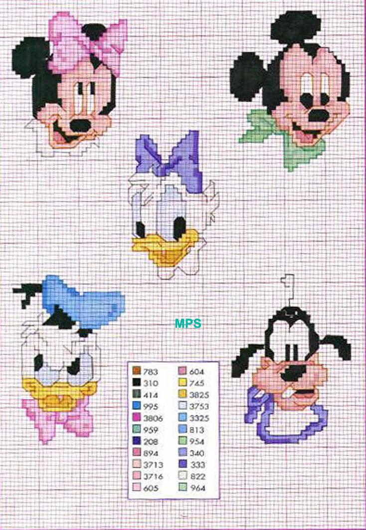Punto croce volti visi baby disney punto for Disney punto croce schemi gratis