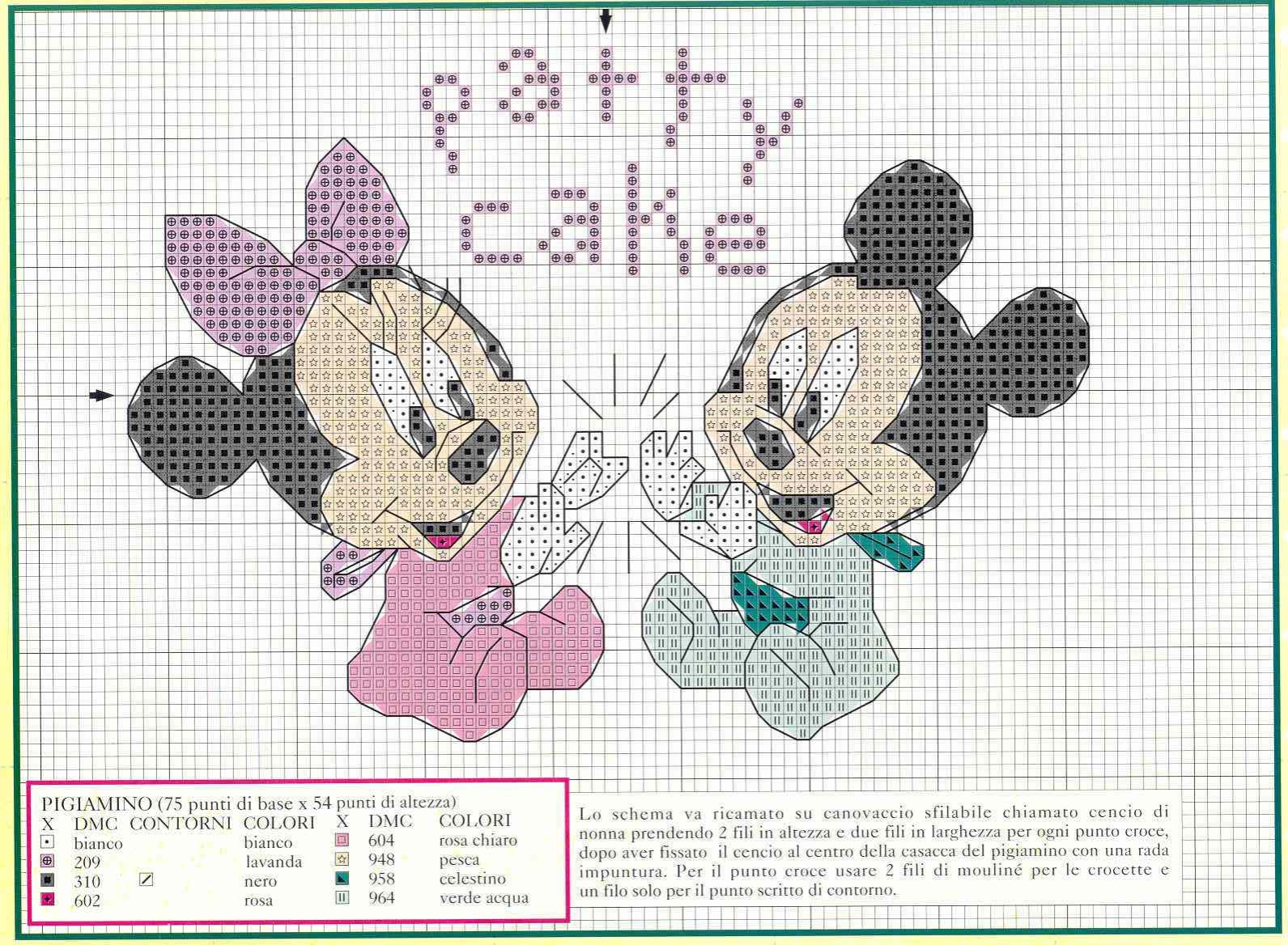 Topolino e minnie schema per cuscino o quadretto 2 for Schemi punto croce disney da stampare gratis