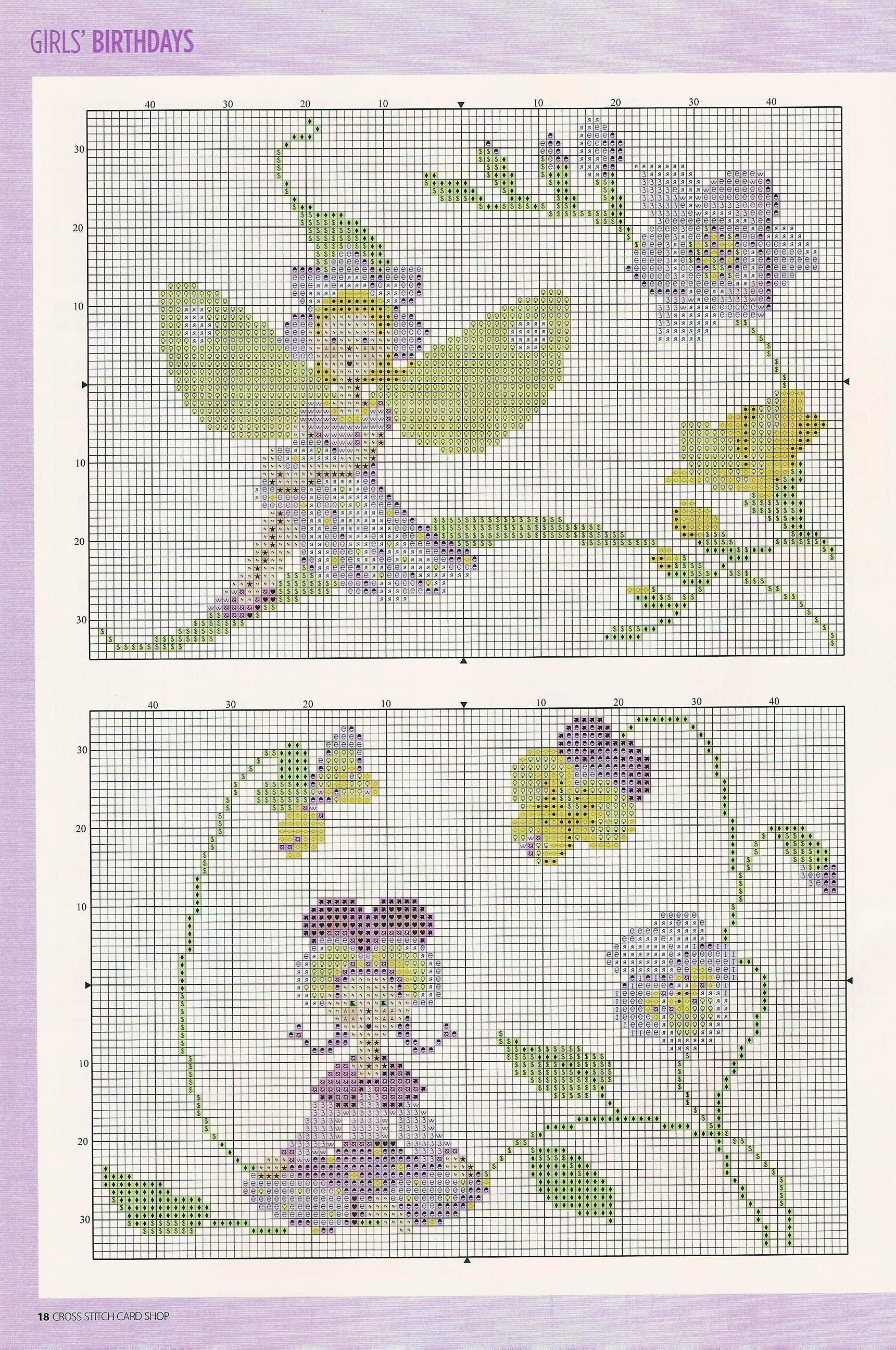 Schemi a punto croce le fate for Punto croce fiori e farfalle