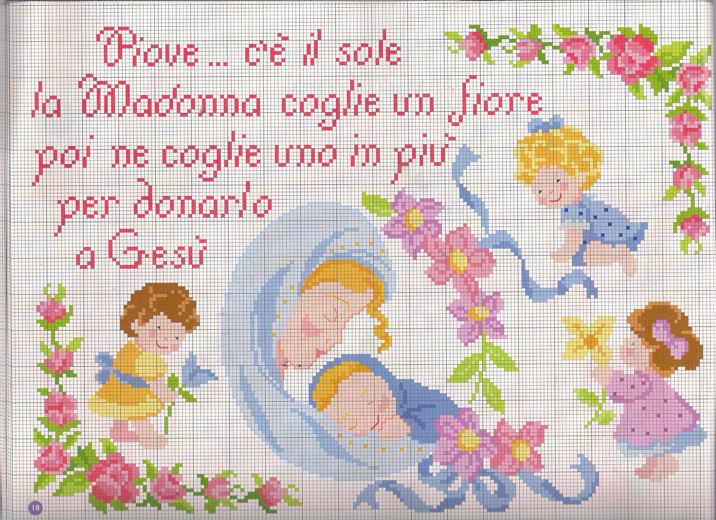 Filastrocca madonnina punto croce for Punto a croce bambini