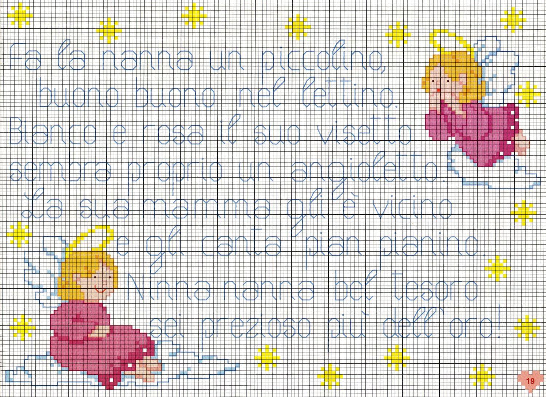 Filastrocca neonato uncinetto punto croce for Punto croce bambini gratis