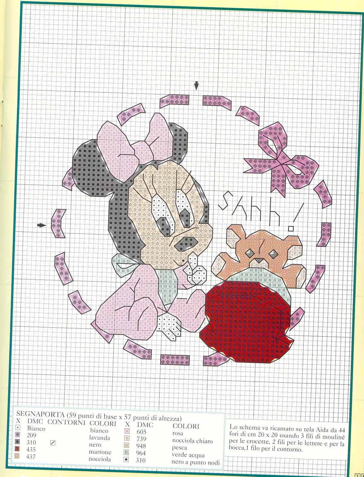 Fiocco Nascita Disney Con Minnie E Orsacchiotto 2 Magiedifiloit