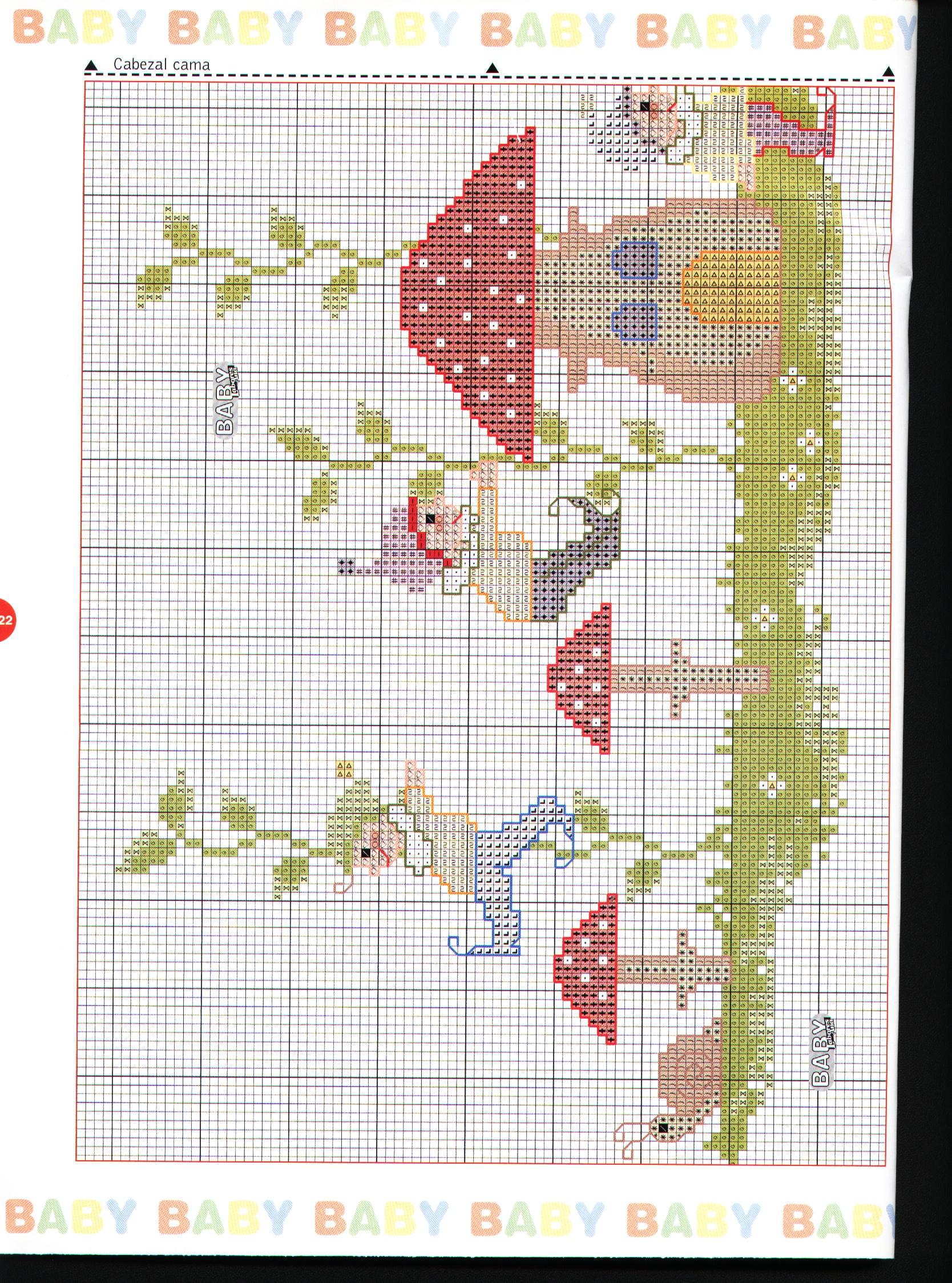 copertina lettino e paracolpi con i folletti a punto croce (4 ... 2b9b25e54448