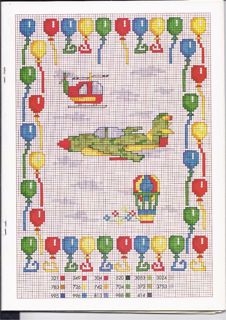 Aerei ed elicotteri schemi punto croce bambini for Schemi punto croce bambini gratis