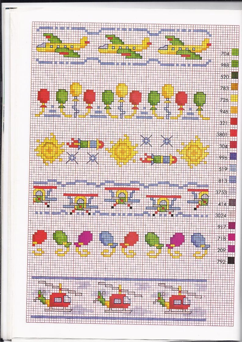 Schemi a punto croce di macchinine bordi punto croce bimbi for Punto croce trenino