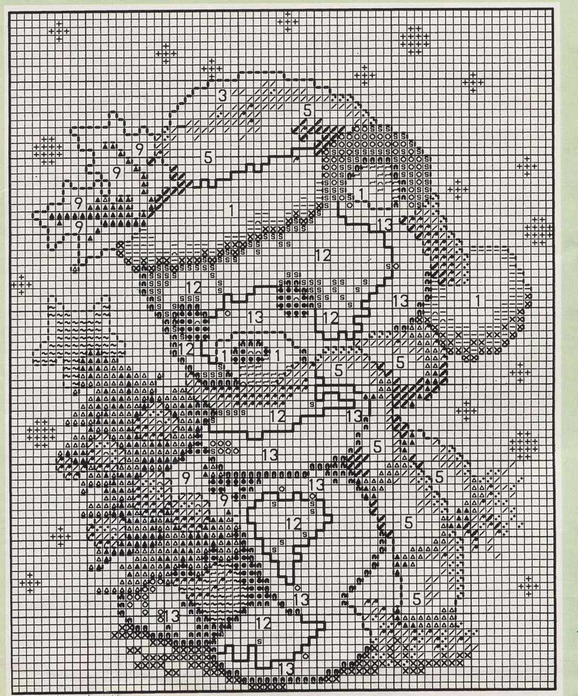 Quadretto punto croce schema con orsetto di natale 2 for Schema punto croce orsetto