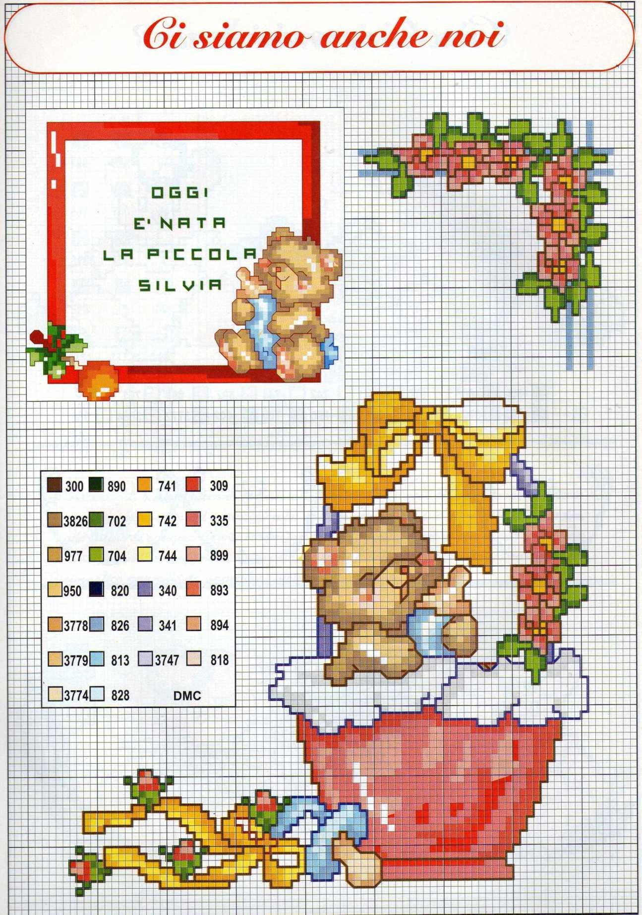 Quadretto nascita punto croce quadretto nascita orsetto for Quadretto nascita punto croce