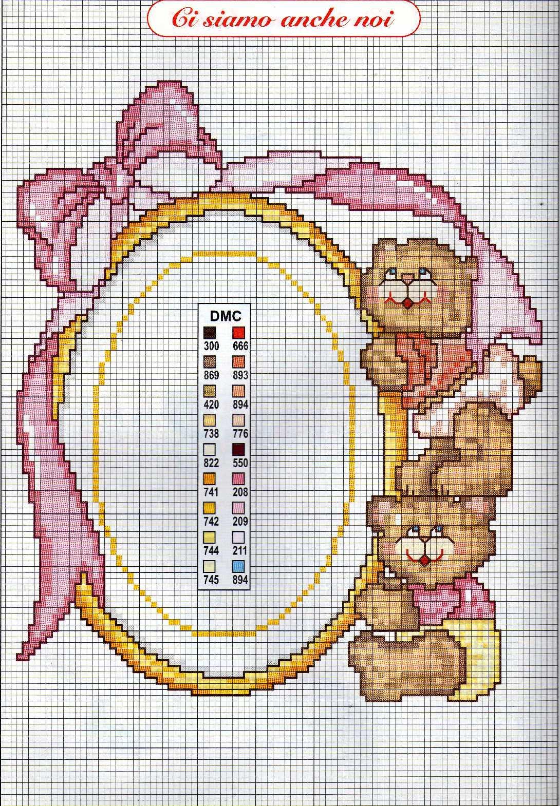 Bambini nascita gemelle cornice punto for Punto croce bambini nascita