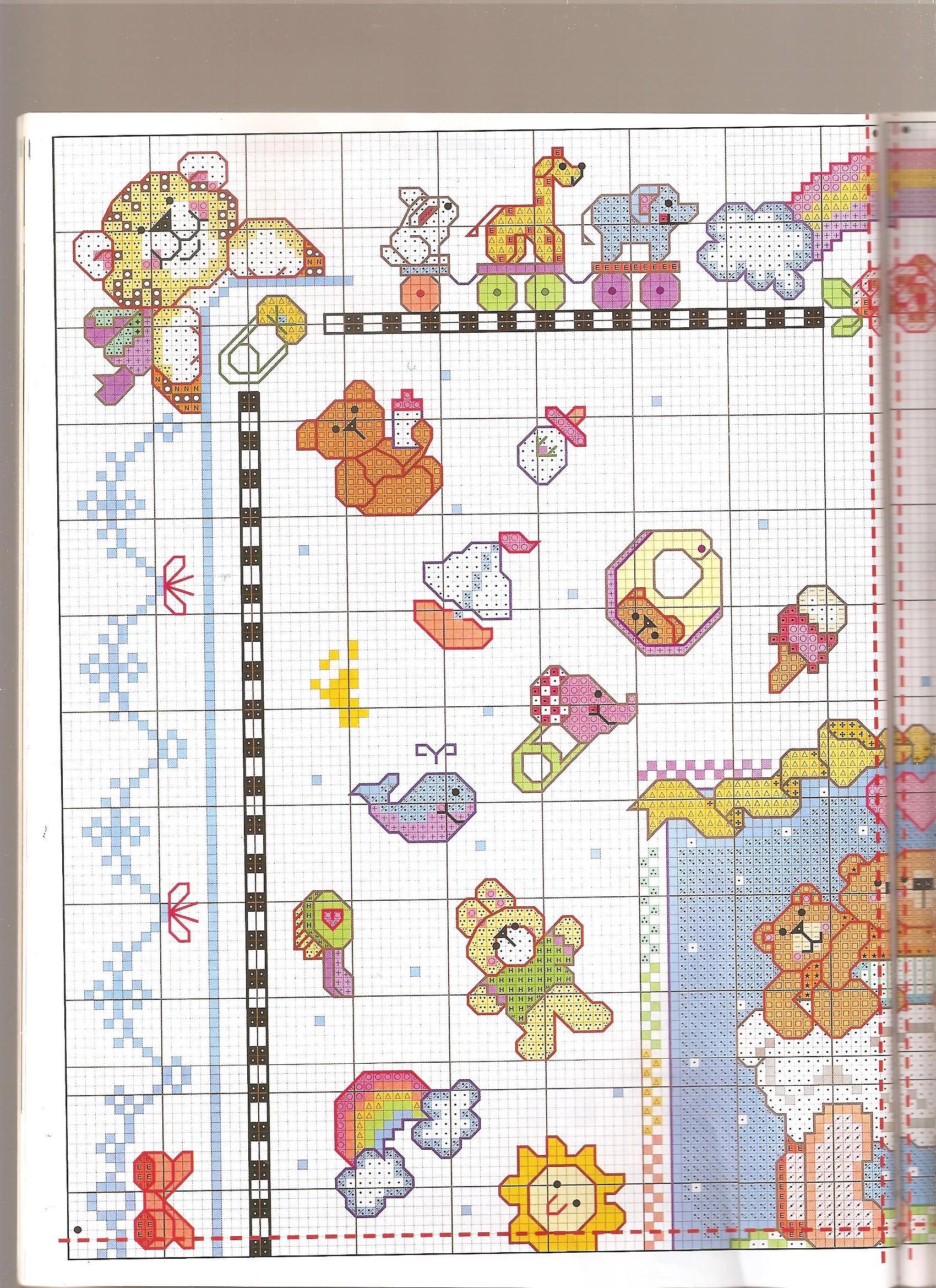 Quadretto bambini misto2 punto croce for Bambini punto croce schemi