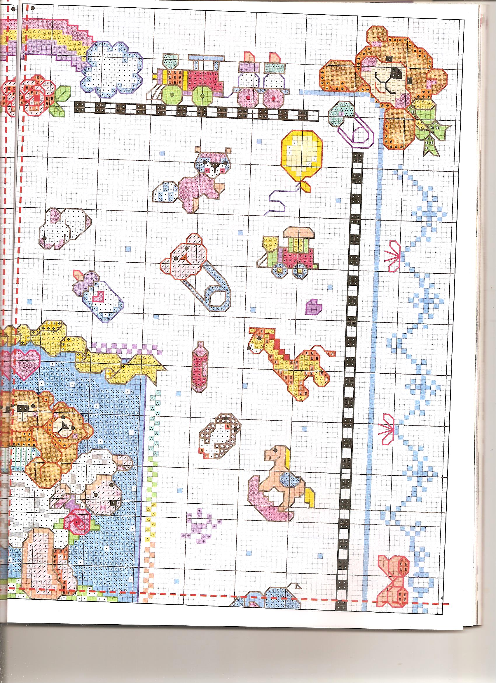 Quadretto bambini misto3 punto croce for Punto croce bambini nascita