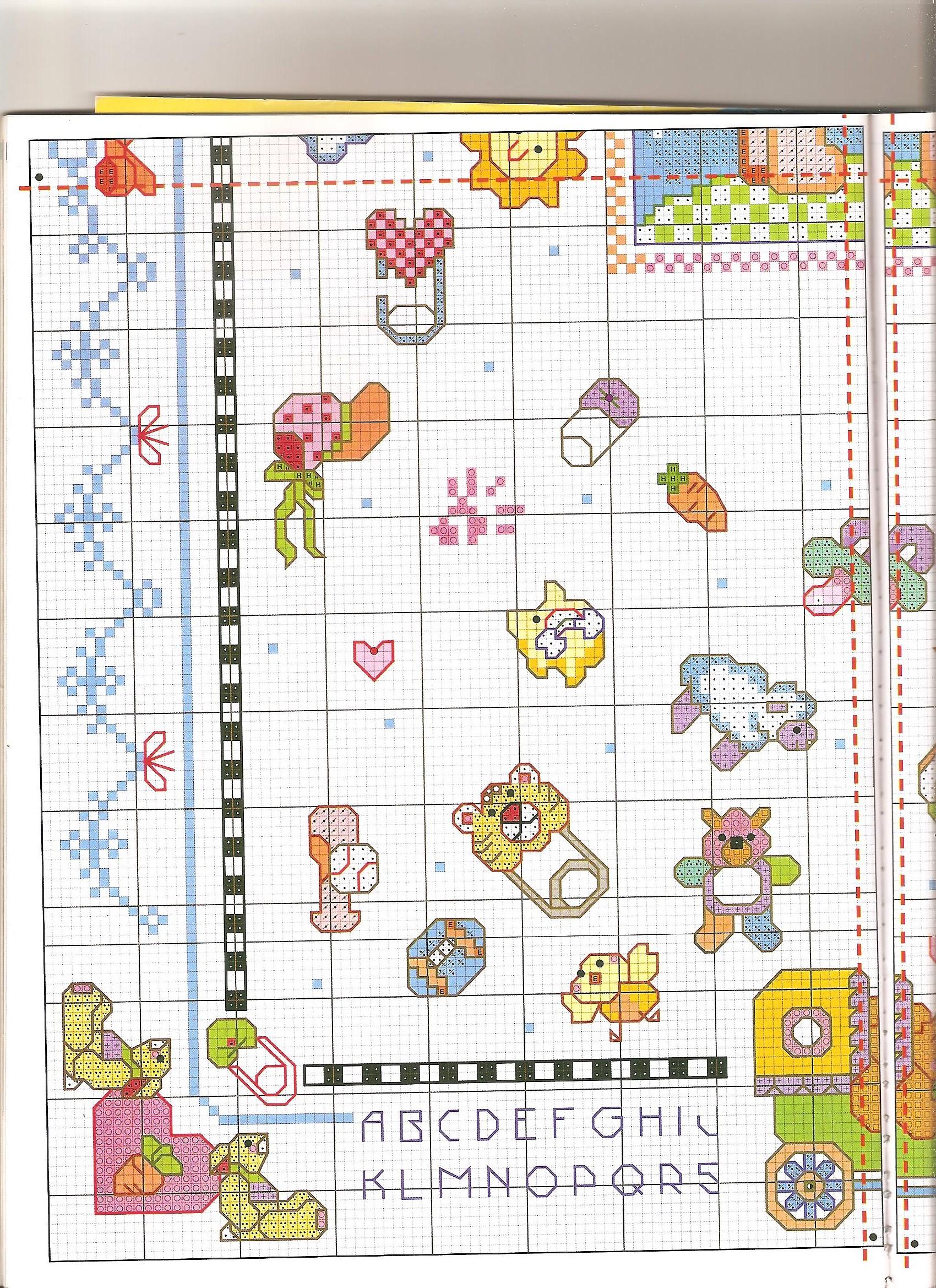Quadretto bambini misto4 punto croce for Decorazioni punto croce bambini