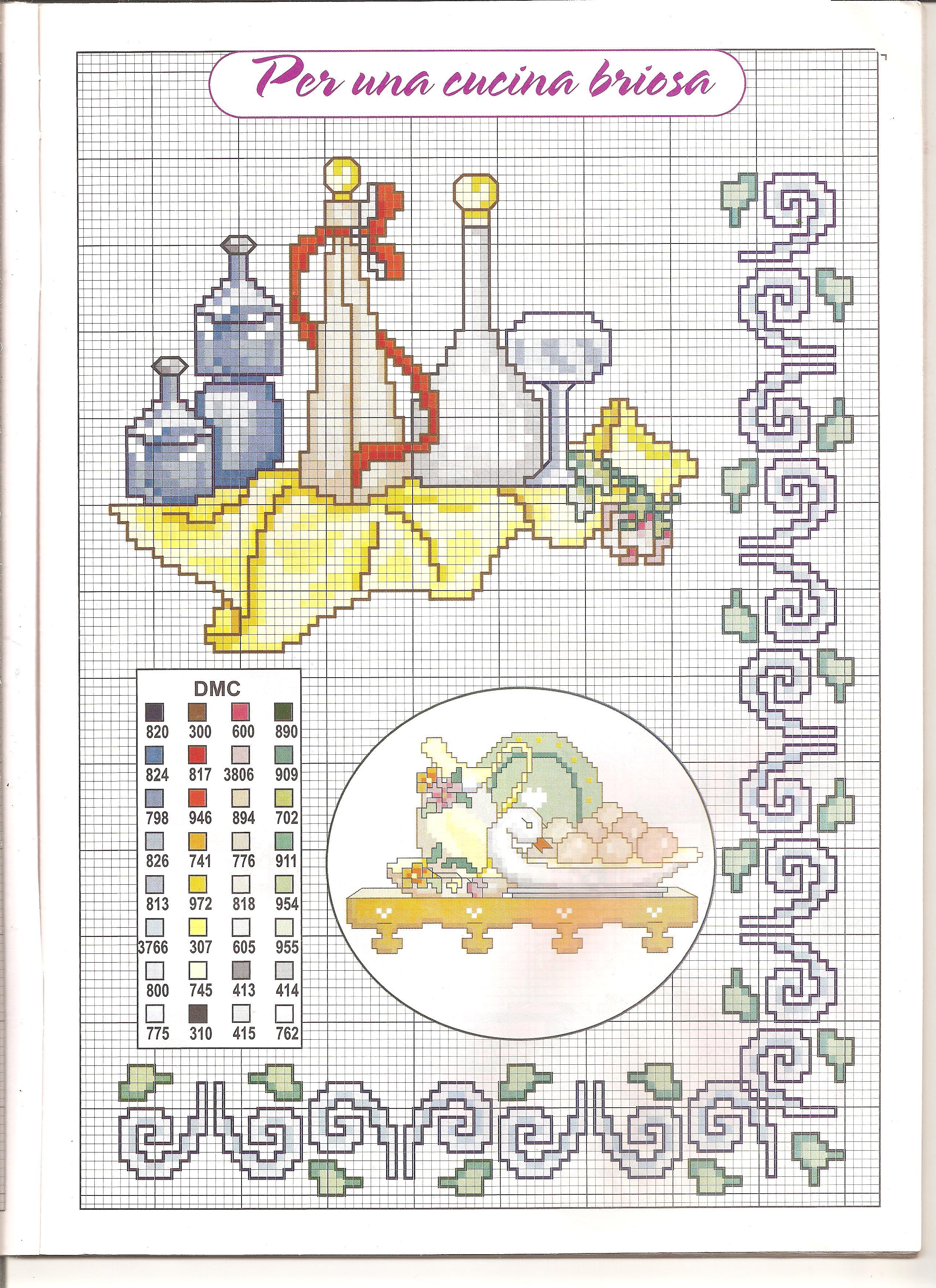 Cucina mensolina 3 punto croce for Registro casa schemi