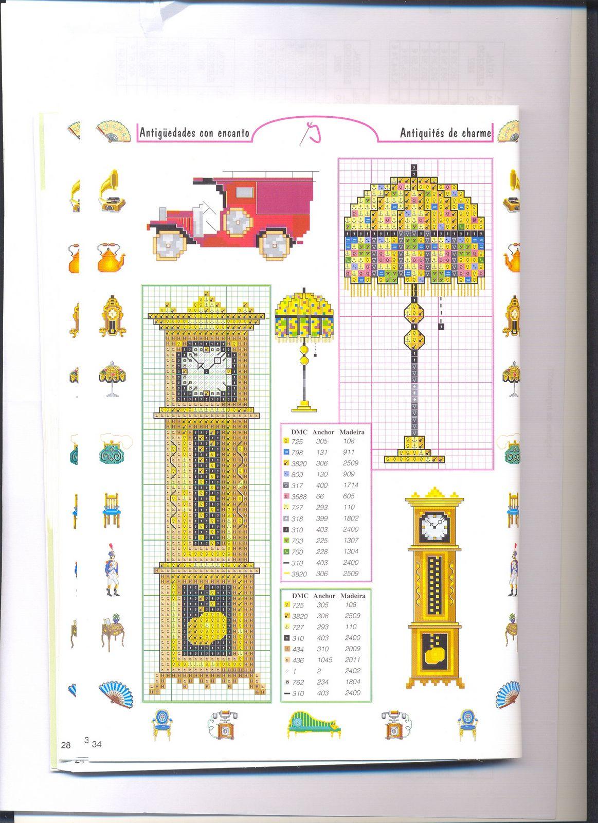 Piccoli accessori arredamanto casa mobili punto croce 9 for Registro casa schemi