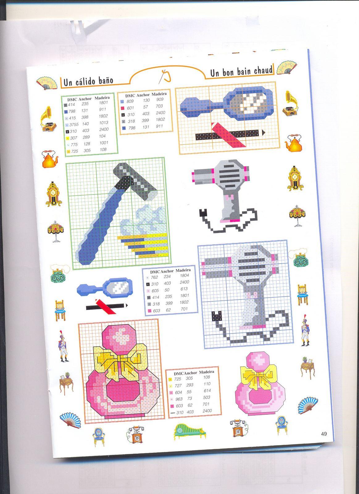 piccoli accessori bagno punto croce (2) - magiedifilo.it punto croce uncinetto schemi gratis ...