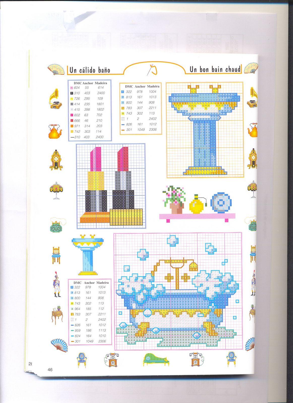 Piccoli accessori bagno punto croce 4 for Schemi punto croce bagnetto bimbi