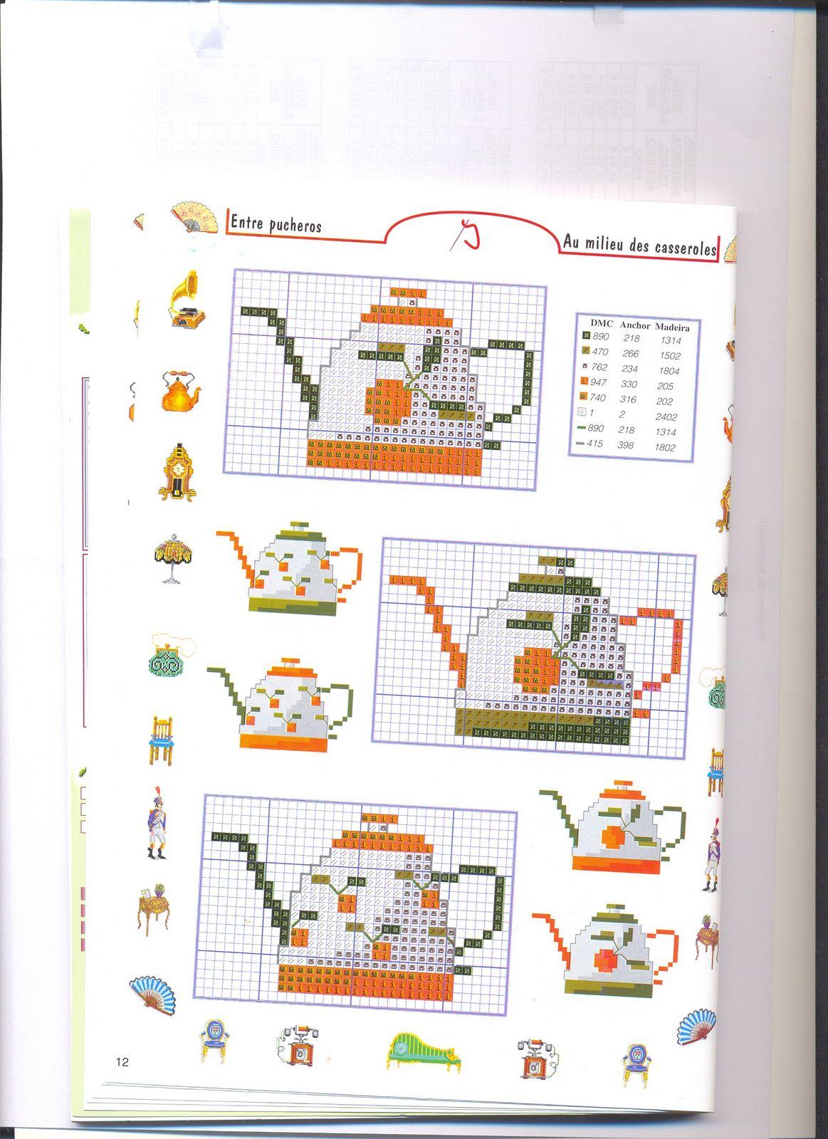 Piccoli accessori piatti e pentole punto croce 6 for Registro casa schemi