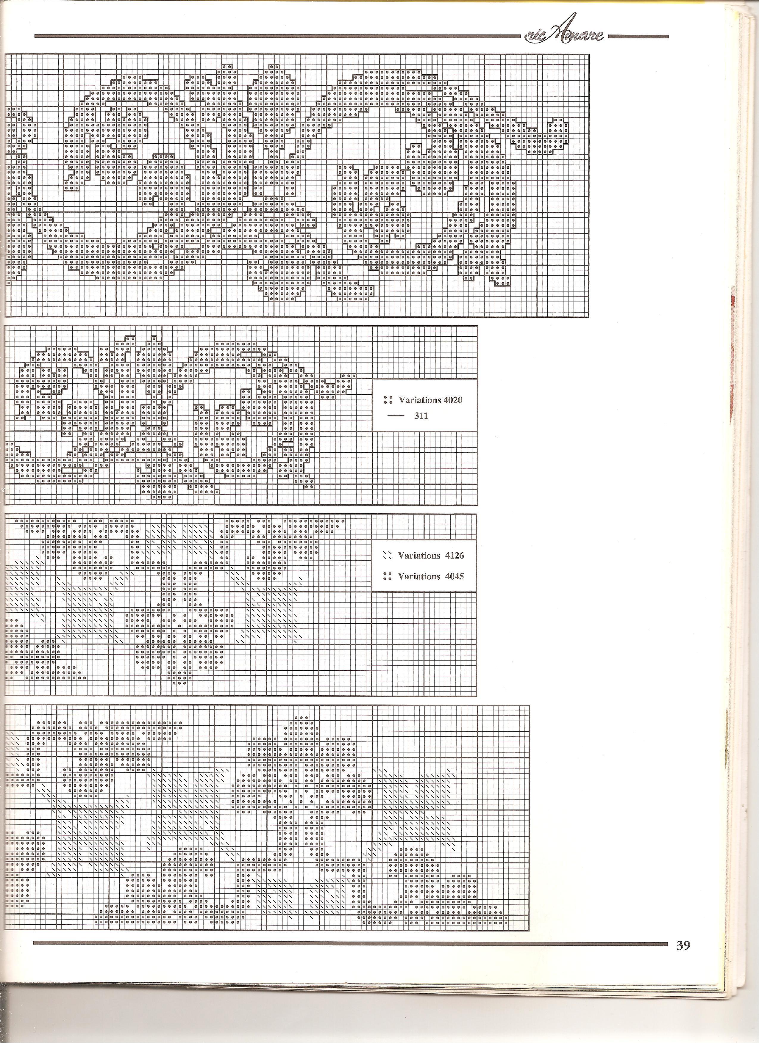 asciugamani semplici ma d'effetto (8) - magiedifilo.it punto croce uncinetto schemi gratis hobby ...