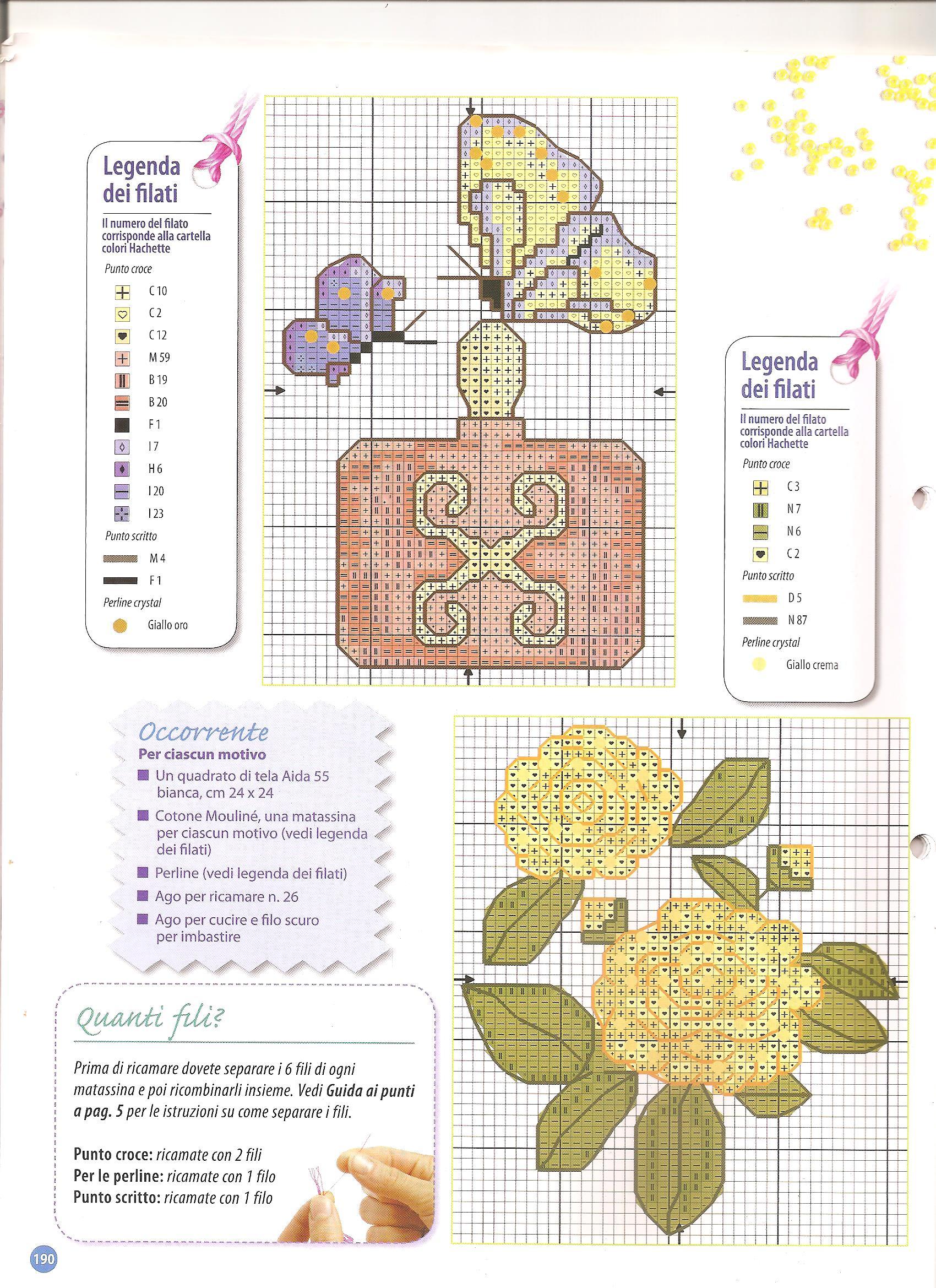 Appendini bagno con fiori e farfalle 2 for Schemi punto croce fiori e farfalle