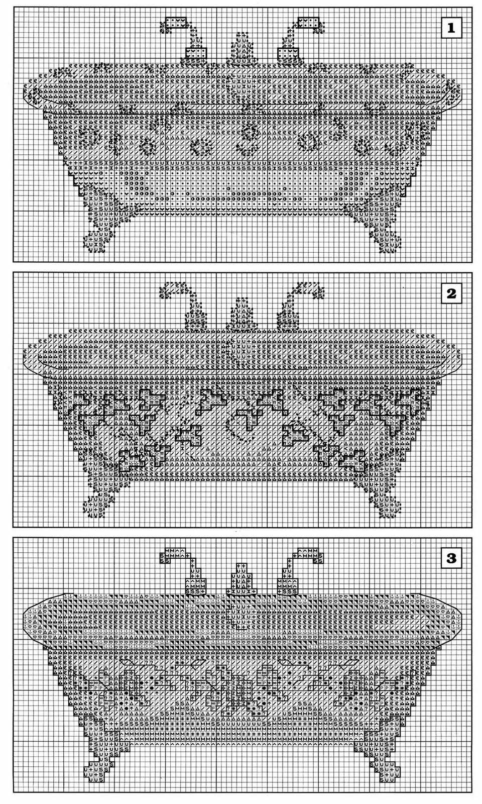 Quadro punto croce bagno con vasche 2 - Schemi punto croce bagno ...