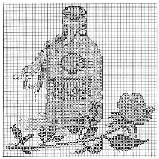 Bagno bottiglietta profumo 6 punto - Schemi punto croce bagno ...