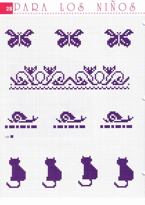 Piccoli motivi punto croce per asciugamani bagno 2 for Piccoli ricami punto croce per bambini