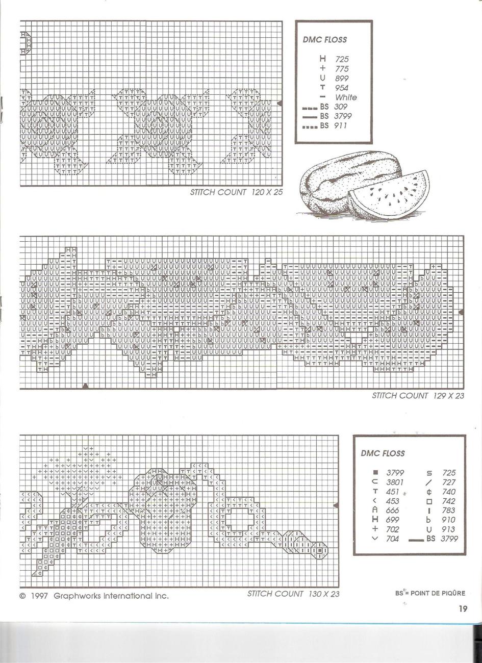 Bordi punto croce con fiori e frutta (2) - magiedifilo.it punto ... dad3f5da0c01