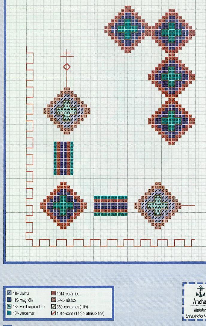 Bordo punto croce gratis con motivi geometrici piccoli for Registro casa schemi