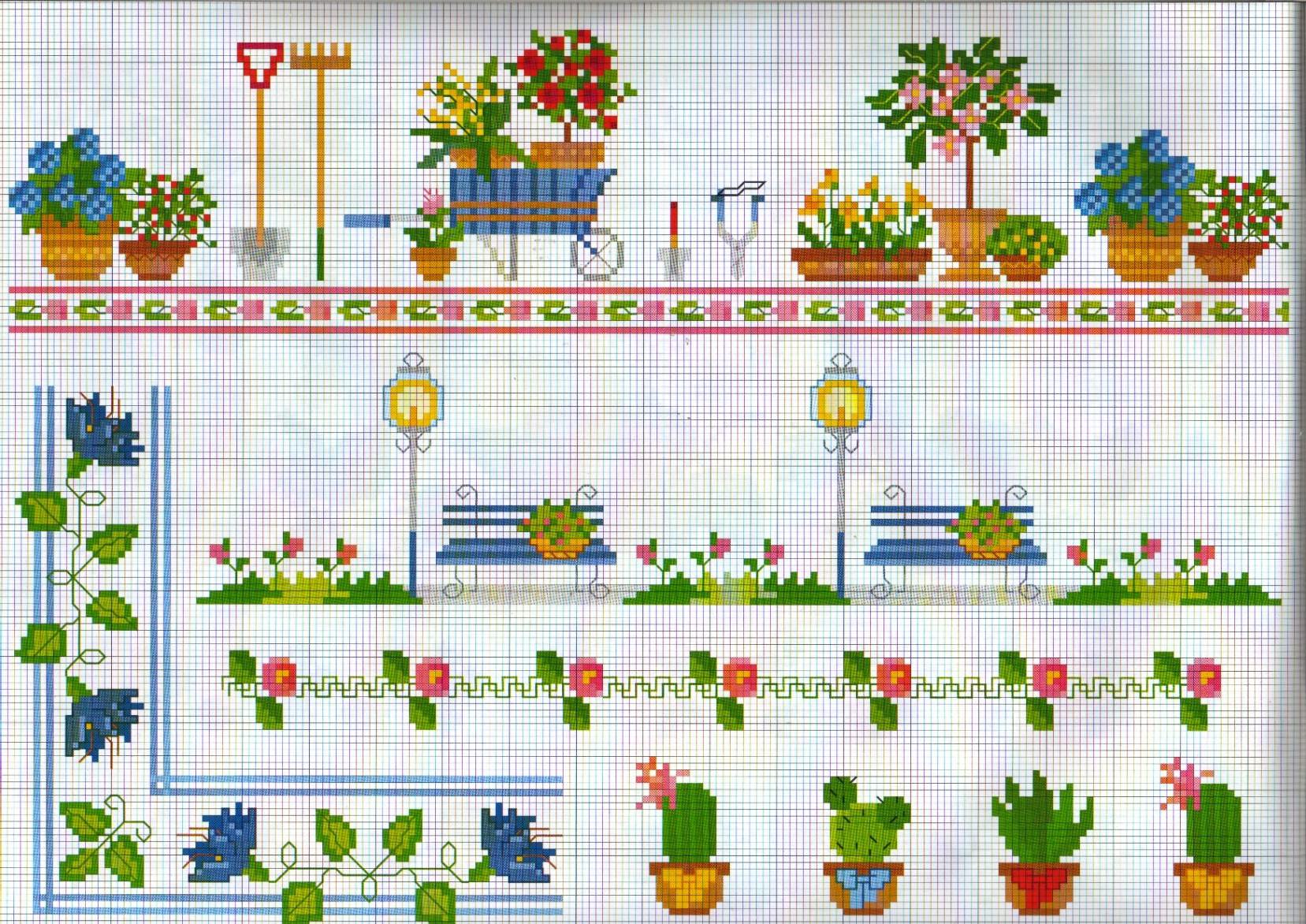Bordure giardino punto croce uncinetto - Punto jardin ...
