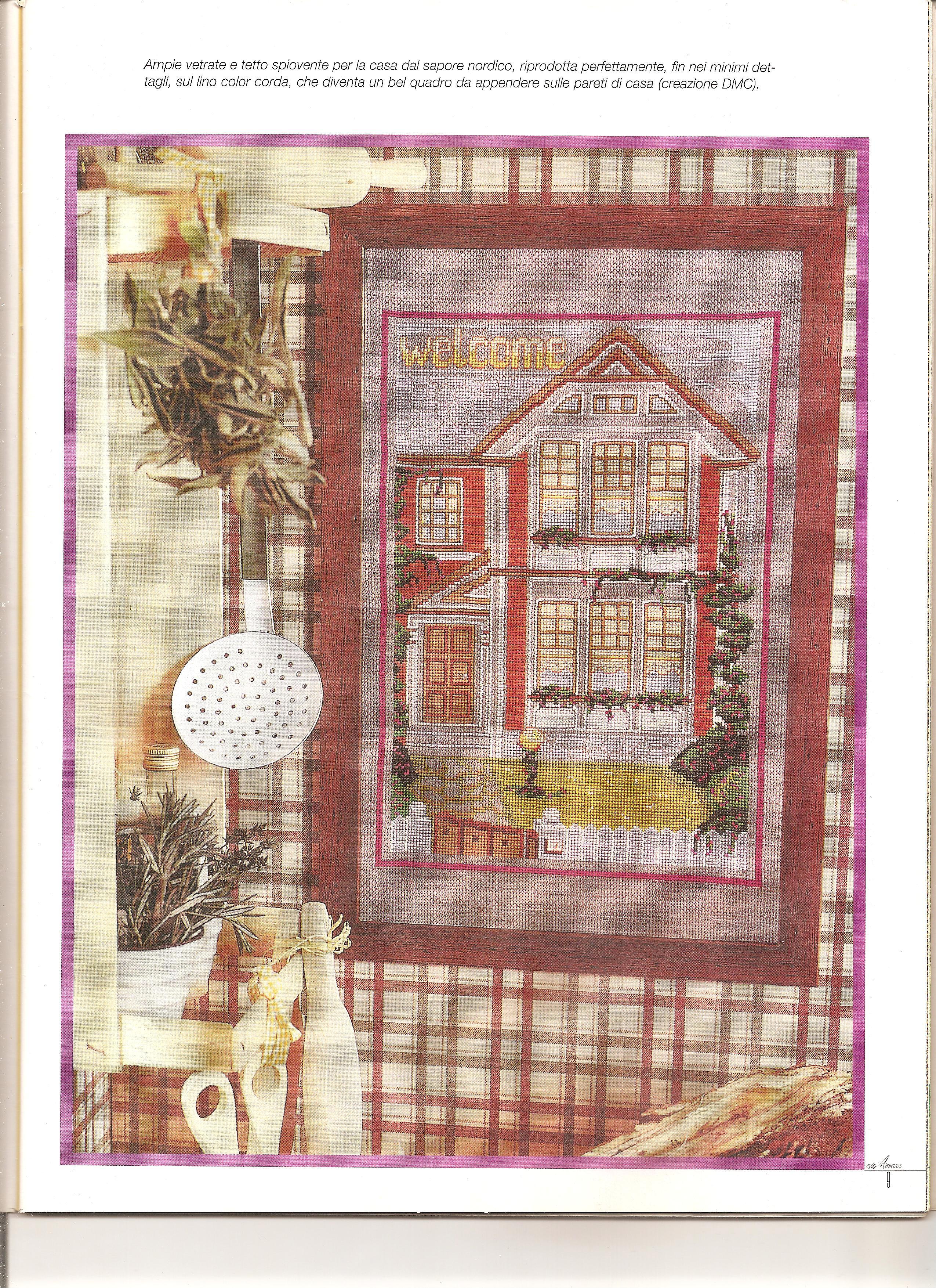 Casa dolce casa welcome 1 punto croce for Casa dolce