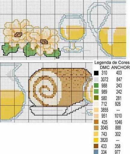 Cucina brocca con tortino punto croce for Registro casa schemi