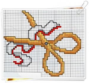Forbici punto croce uncinetto schemi for Registro casa schemi
