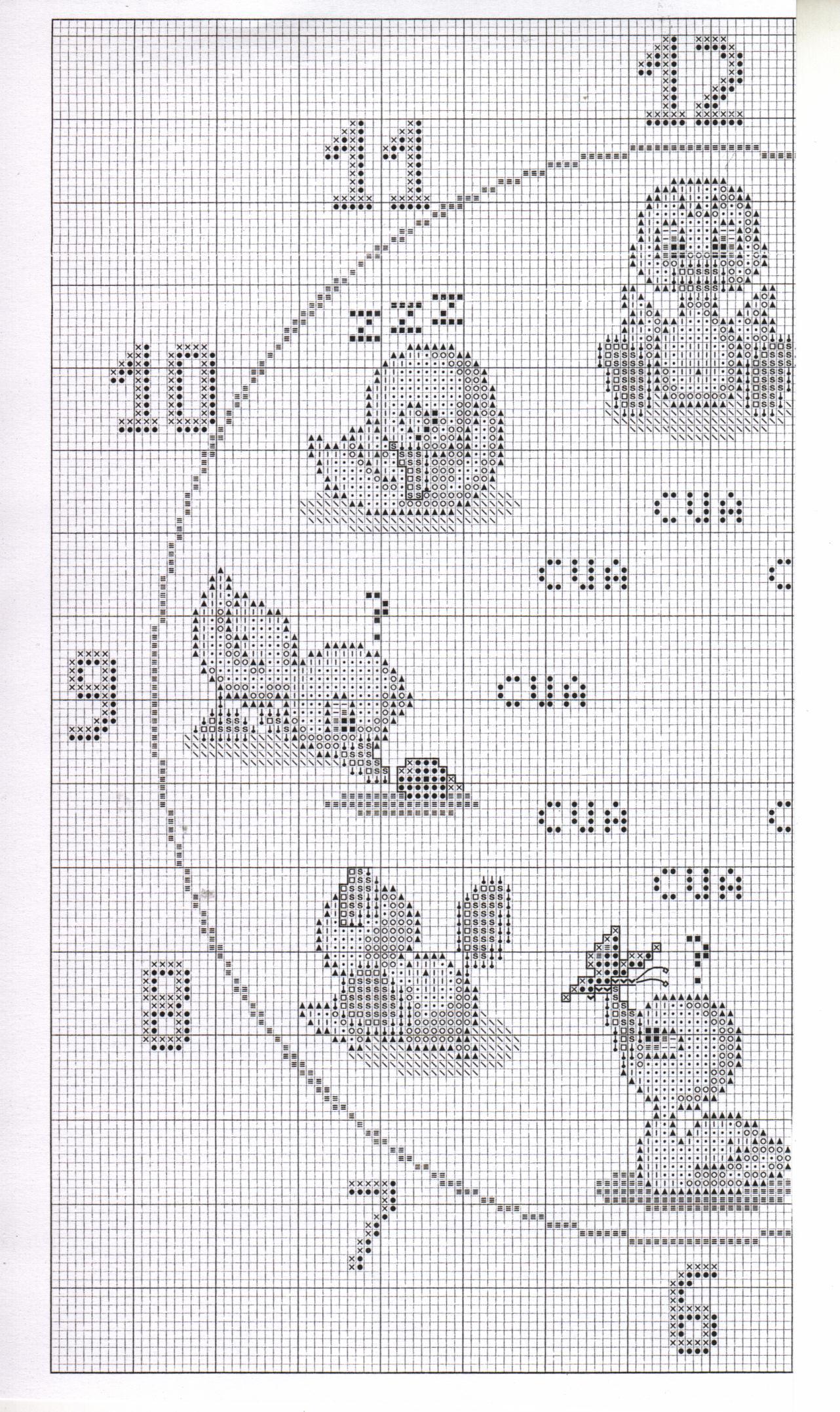 Orologio bambini paperelle 2 punto for Orologio punto croce schemi gratis