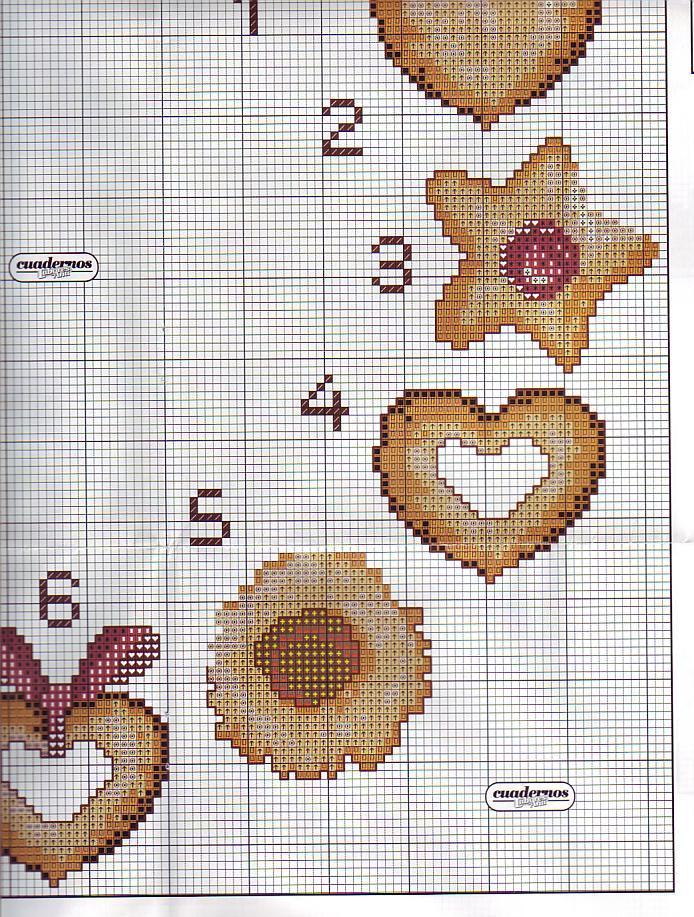 Orologio biscotti 4 punto croce for Orologio punto croce schemi gratis