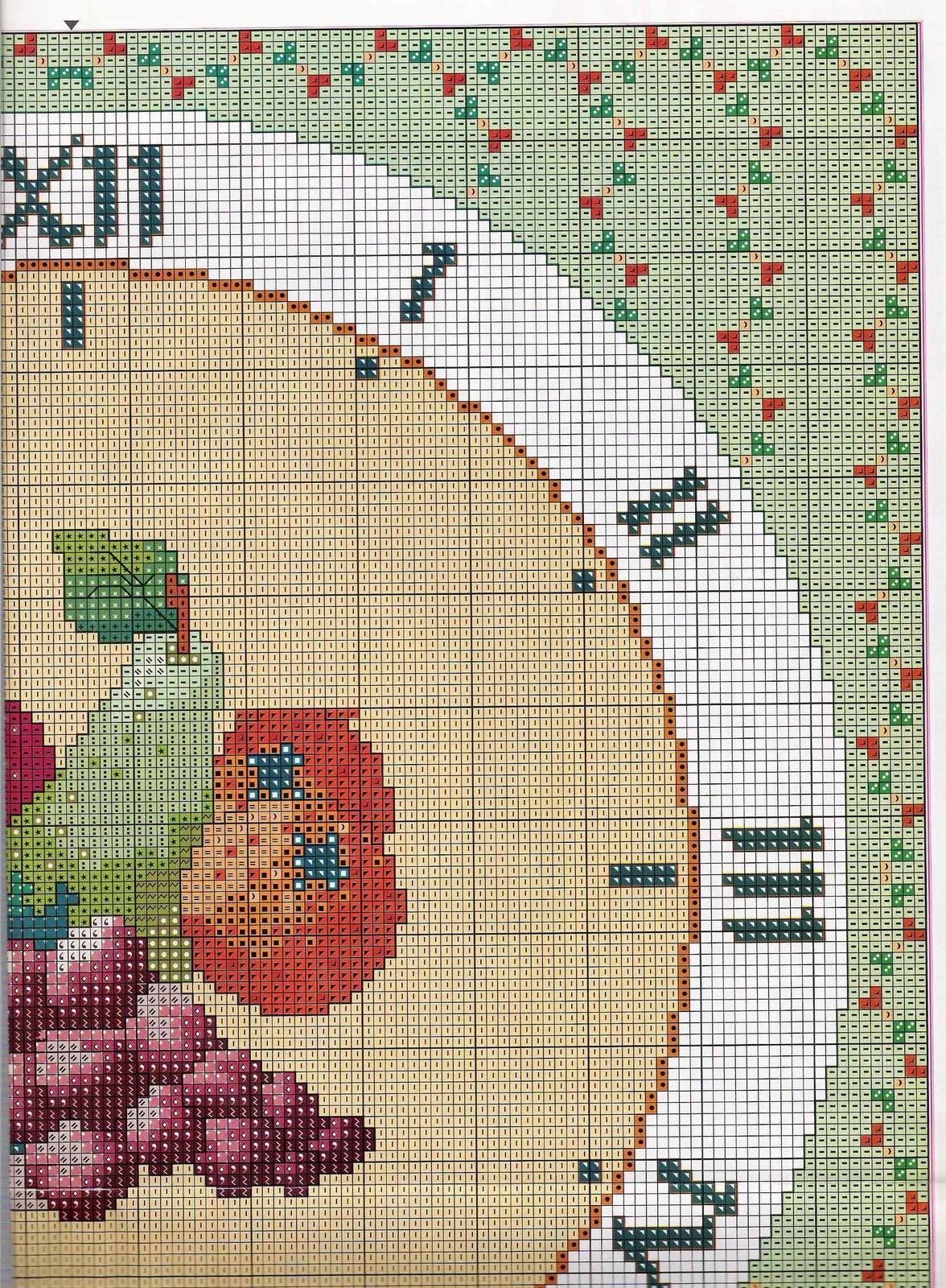 Orologio frutta 3 punto croce uncinetto for Orologio punto croce schemi gratis