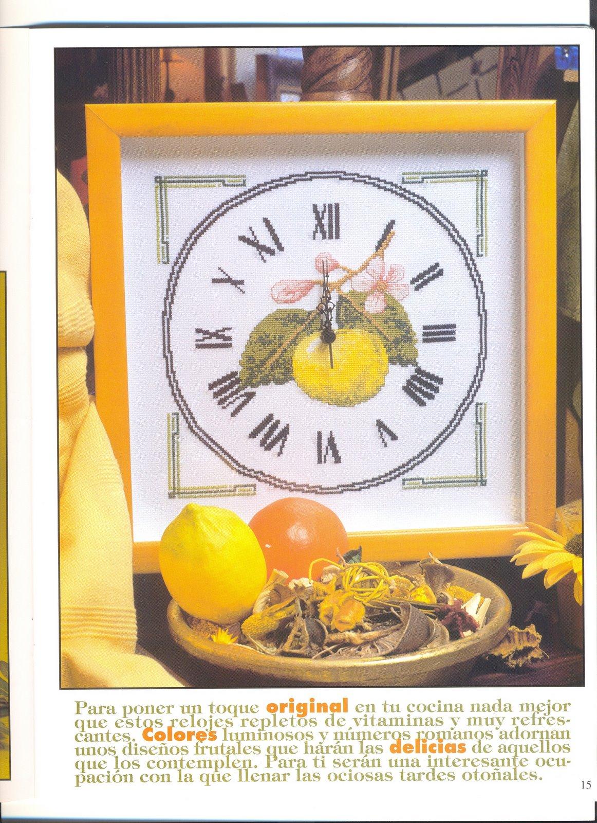 Orologio punto croce limomi 1 punto for Orologio punto croce schemi gratis