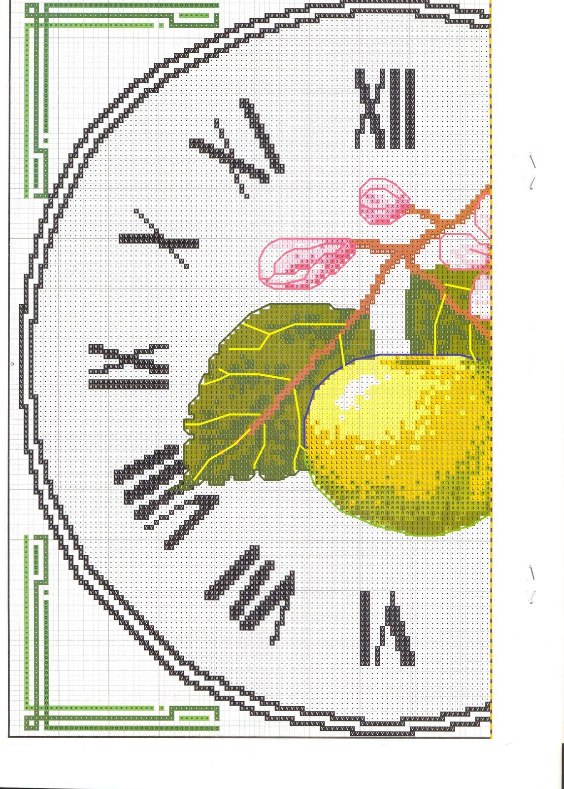 Orologio punto croce limomi 2 punto for Orologio punto croce schemi gratis