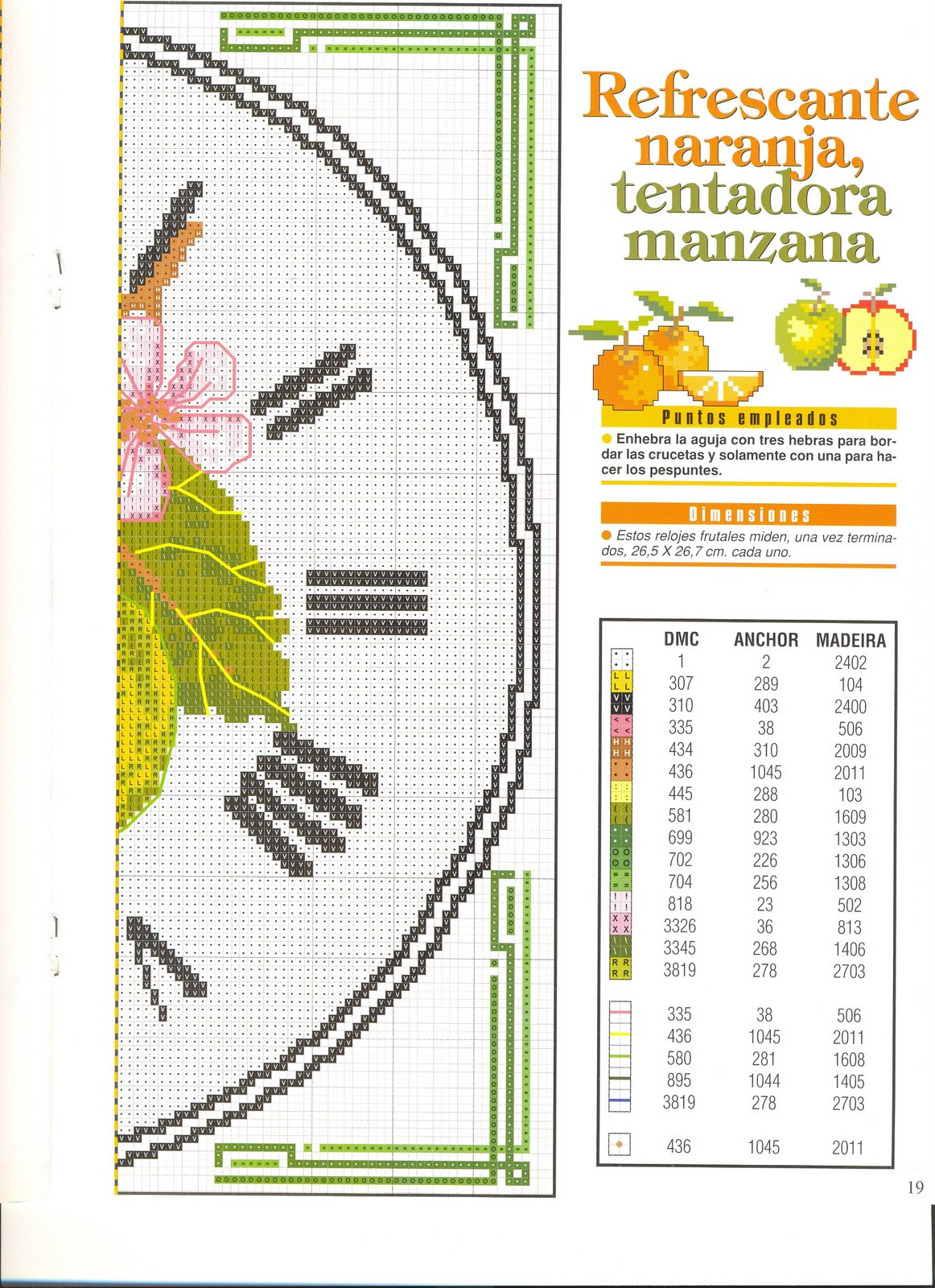 Orologio punto croce limomi 3 punto for Orologio punto croce schemi gratis