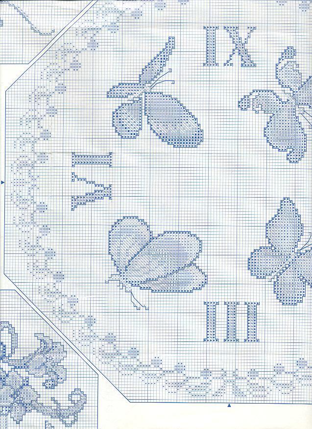 Orologio volo di farfalle 3 punto croce for Farfalle a punto croce gratis