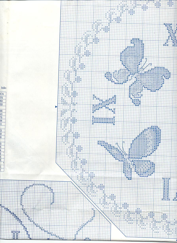 Orologio volo di farfalle 4 punto croce for Schemi punto croce farfalle