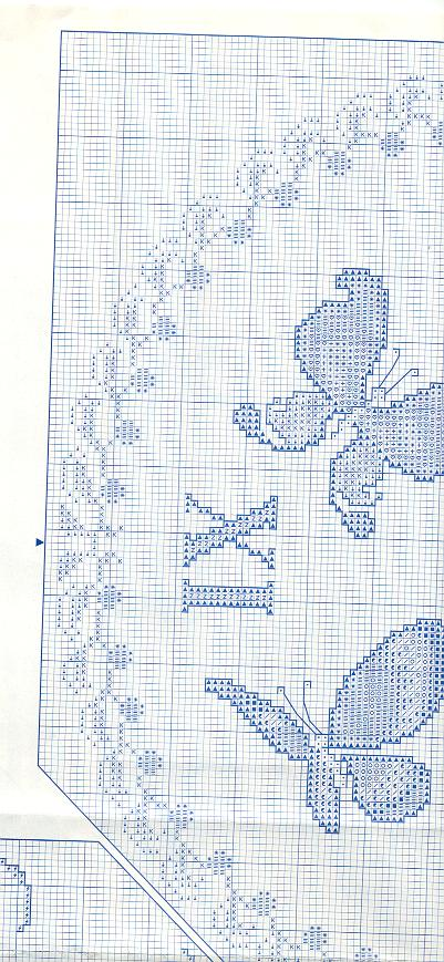 Orologio volo di farfalle 5 punto croce for Schemi punto croce farfalle