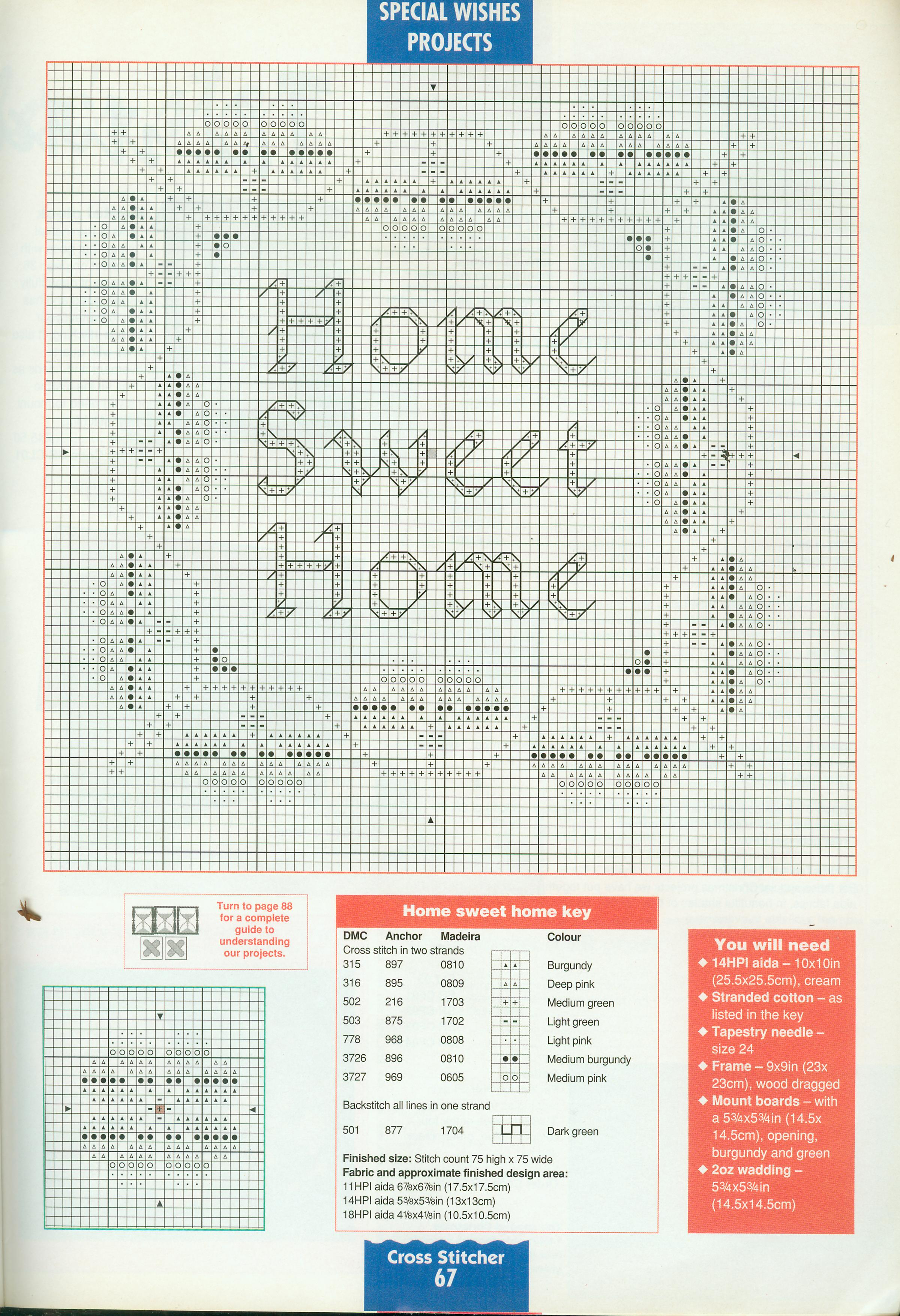 Casa dolce casa punto croce molto bello 9 2 for Registro casa schemi