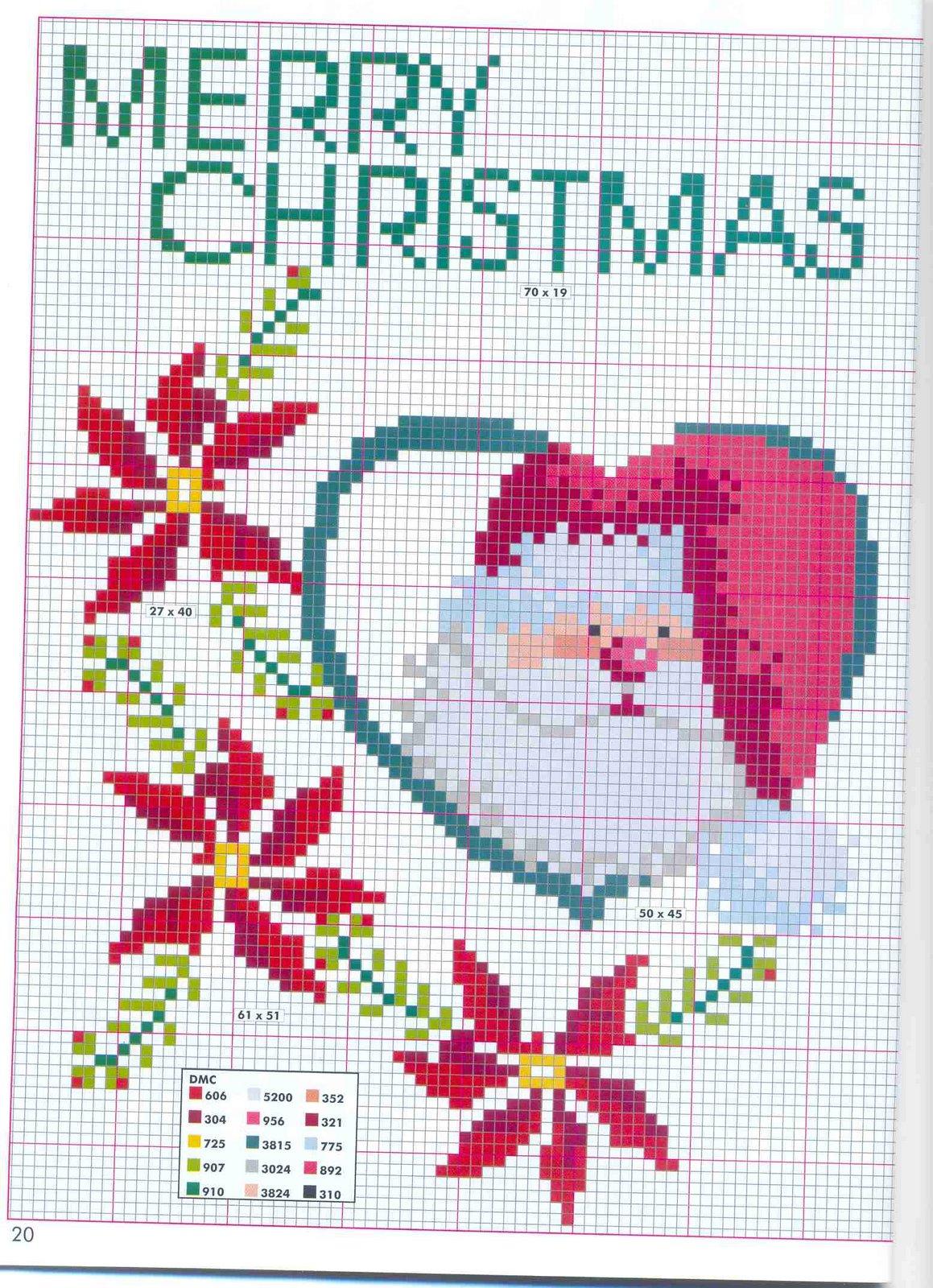 Babbo Natale Punto Croce Schemi Gratis.Babbo Natale E Stelle Di Natale Magiedifilo It Punto Croce