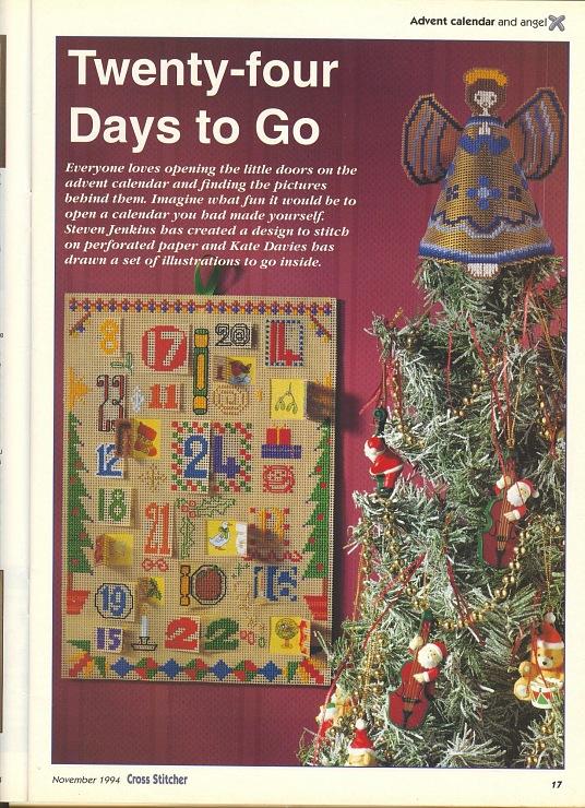 Calendario Dellavvento Punto Croce.Il Calendario Dell Avvento A Punto Croce 1 Magiedifilo