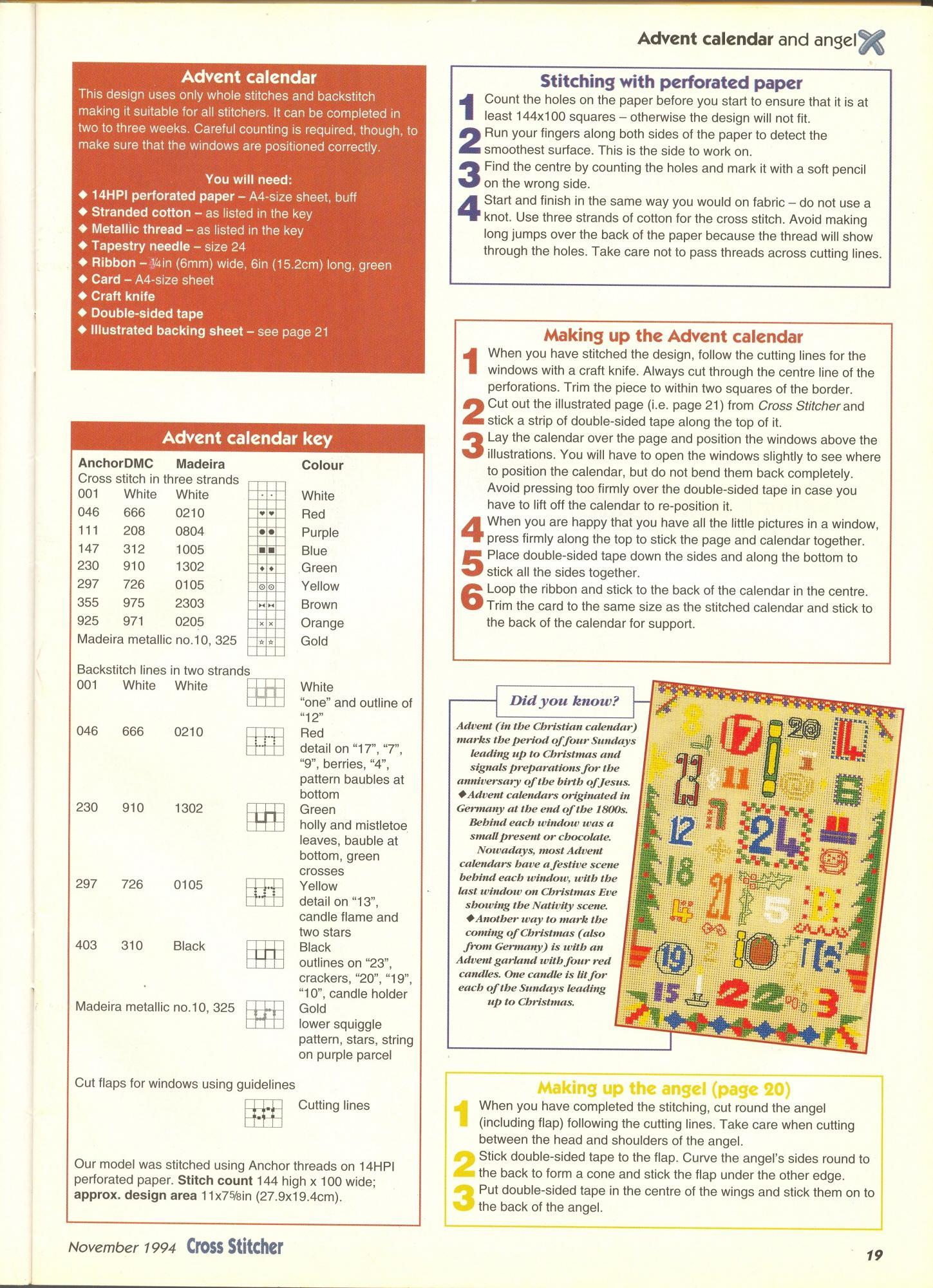 Calendario Dellavvento Punto Croce.Il Calendario Dell Avvento A Punto Croce 3 Magiedifilo