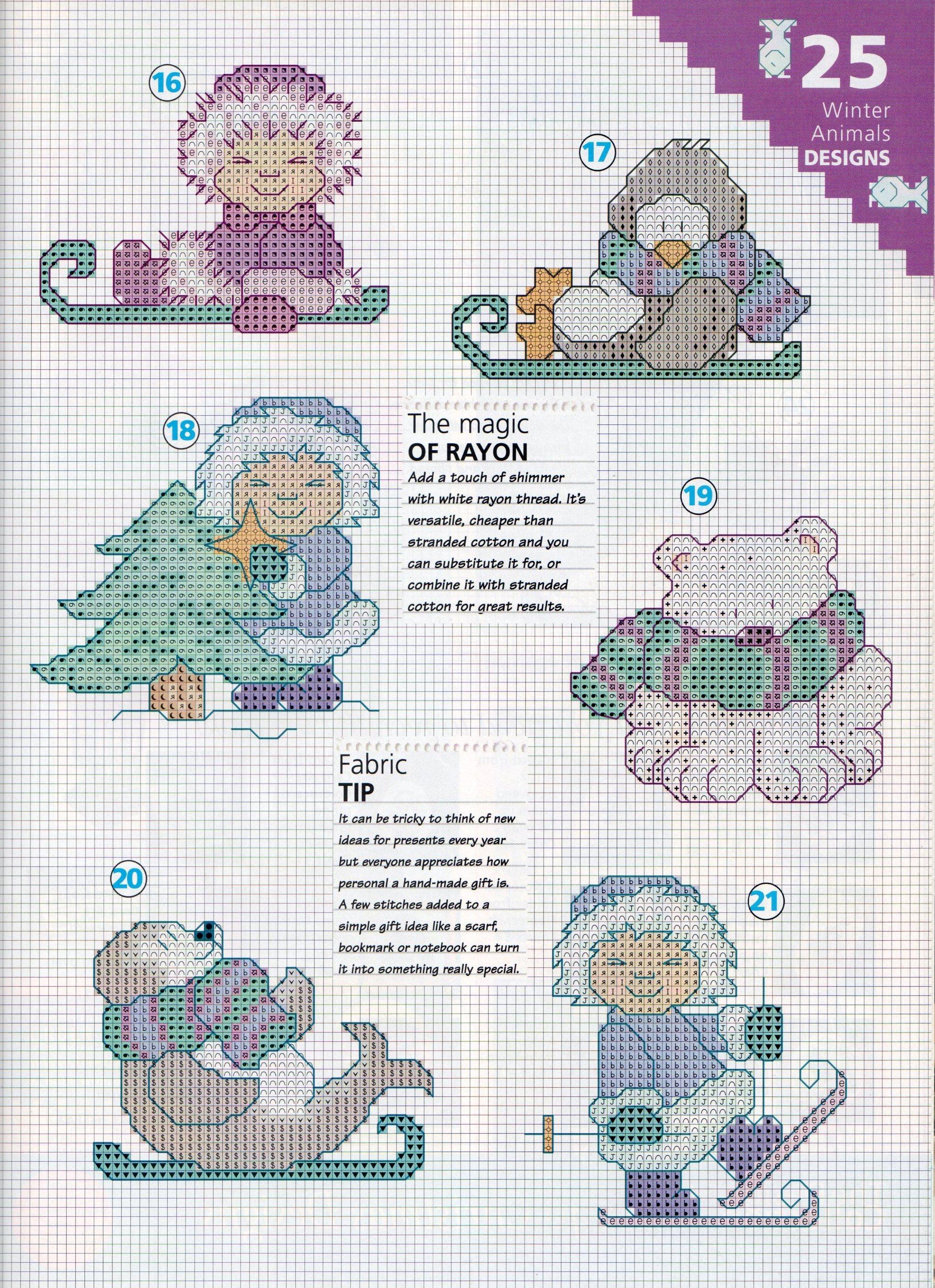 Piccoli schemi natalizi con animali 4 for Schemi punto croce animali