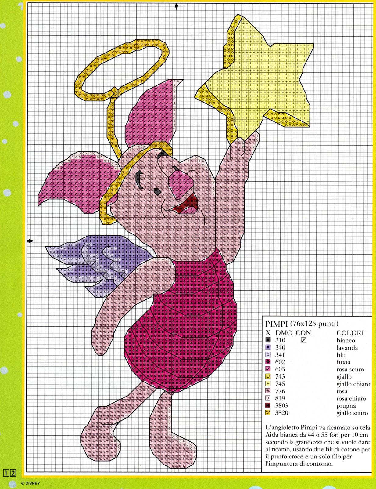 Pimpi winnie the pooh stella punta albero natale 2 for Winnie the pooh punto croce