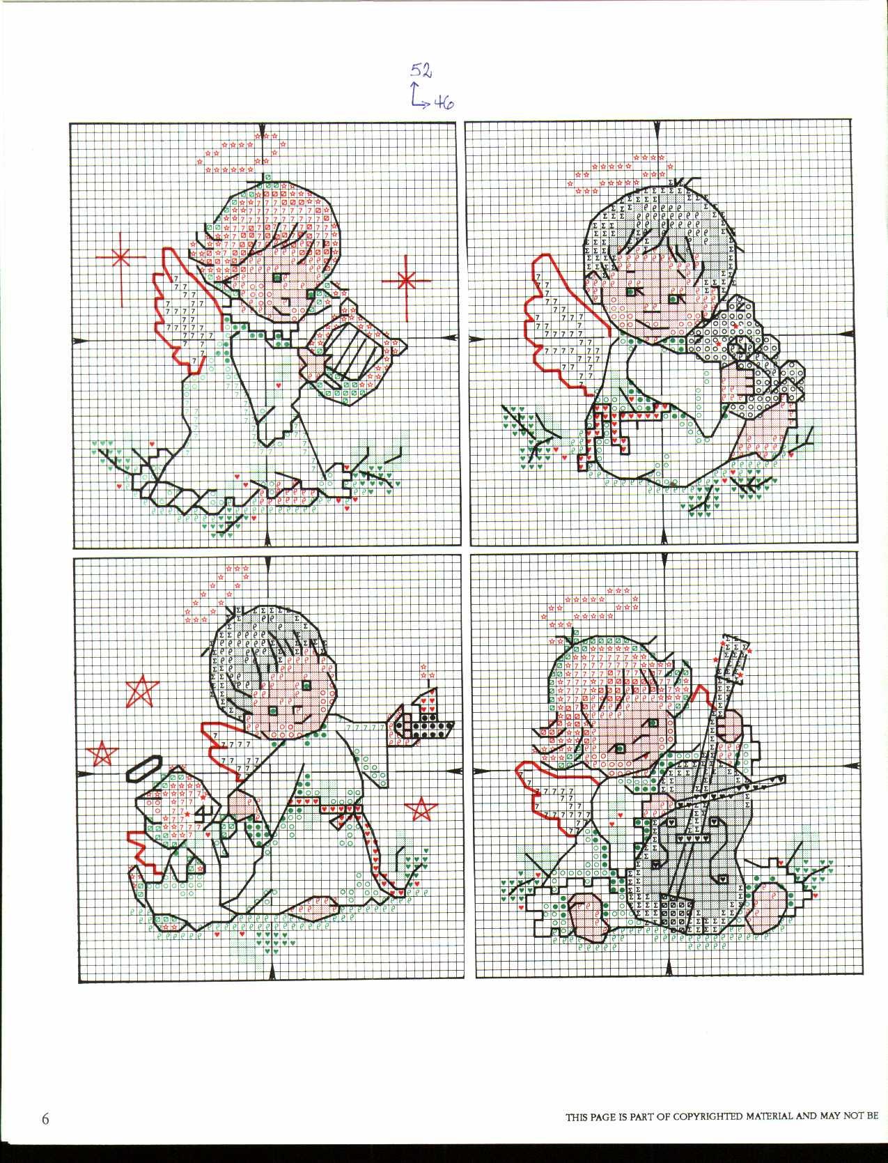 Teneri angioletti natalizi punto croce for Angioletti punto croce per bambini