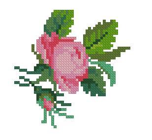 Bocciolo Di Rosa 1 Magiedifiloit Punto Croce Uncinetto Schemi