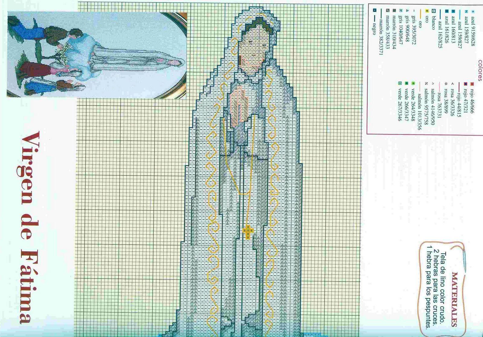Schema punto croce fatima 1 punto croce for Immagini punto a croce